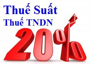 Thuế suất thuế TNDN năm 2014